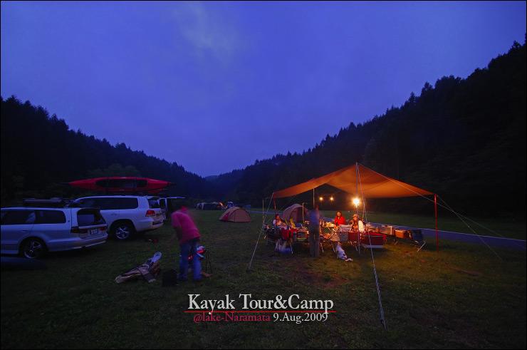 キャンプも楽しみました